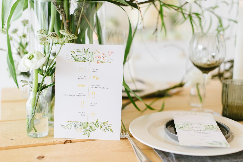 Hochzeitseinladung Botanical Frühlingshochzeit Einladungskarte Tischdeko