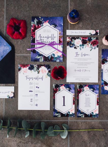Hochzeitspapeterie-Serie »Mystic Violet«