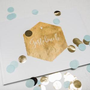 Hochzeit Gästebuch Goldstück Schneiders Papeterie