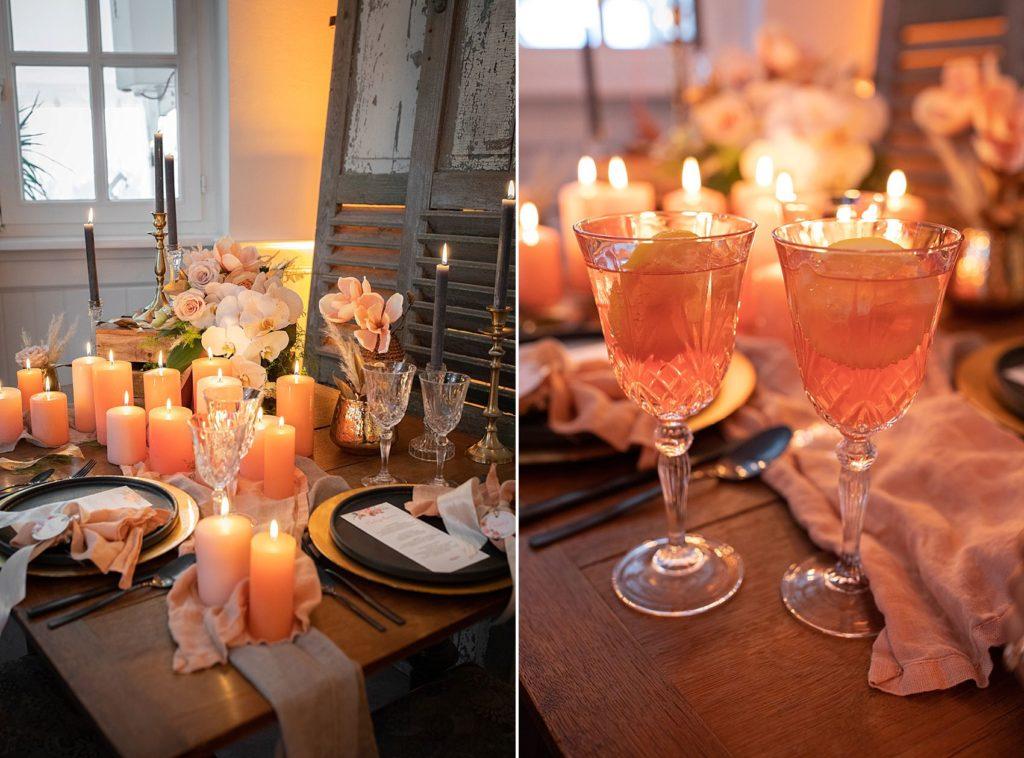Hochzeitseinladung Living Coral, Peach, Florale Einladung
