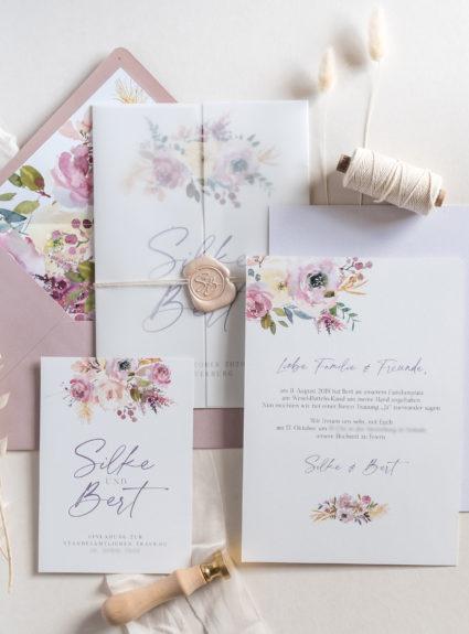 """Hochzeitspapeterie """"Dusty Rose"""""""